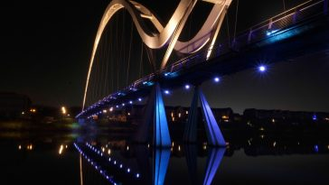 Visit to Infinity Bridge, Stockton on Tees