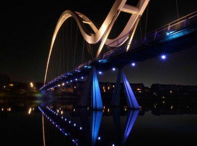 An Evening Visit to Infinity Bridge, Stockton on Tees