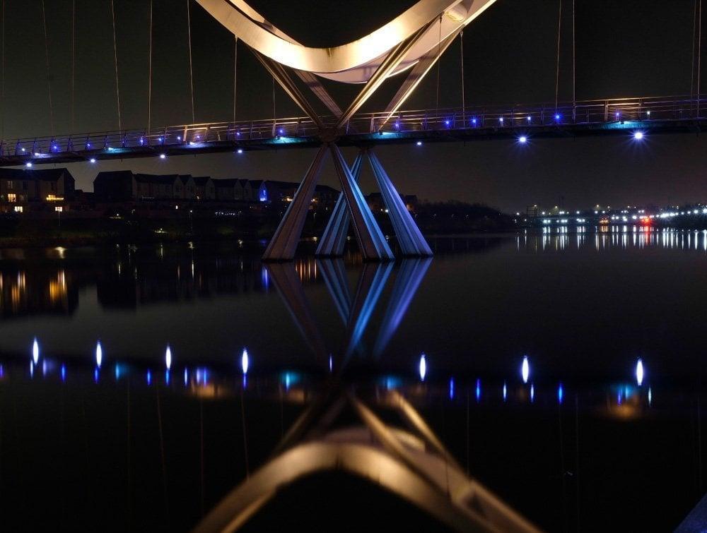 2020_0101_09092900-01 An Evening Visit to Infinity Bridge, Stockton on Tees