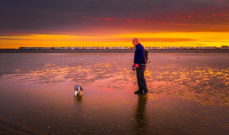 Cleveleys & Rossall Beach, Sunrise & Sunset Dog Walks