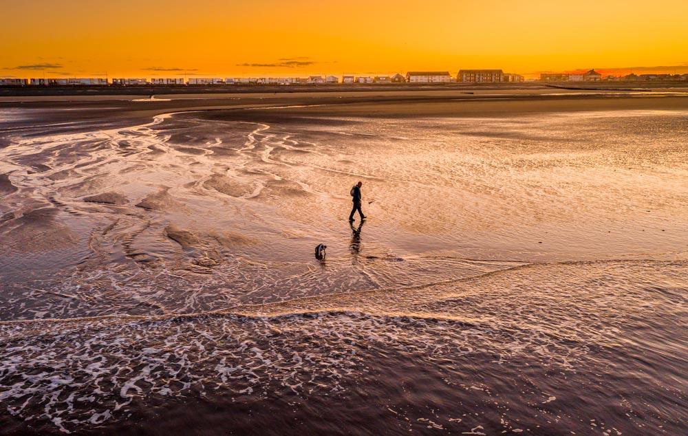 DJI_0632 Cleveleys & Rossall Beach, Sunrise & Sunset Dog Walks