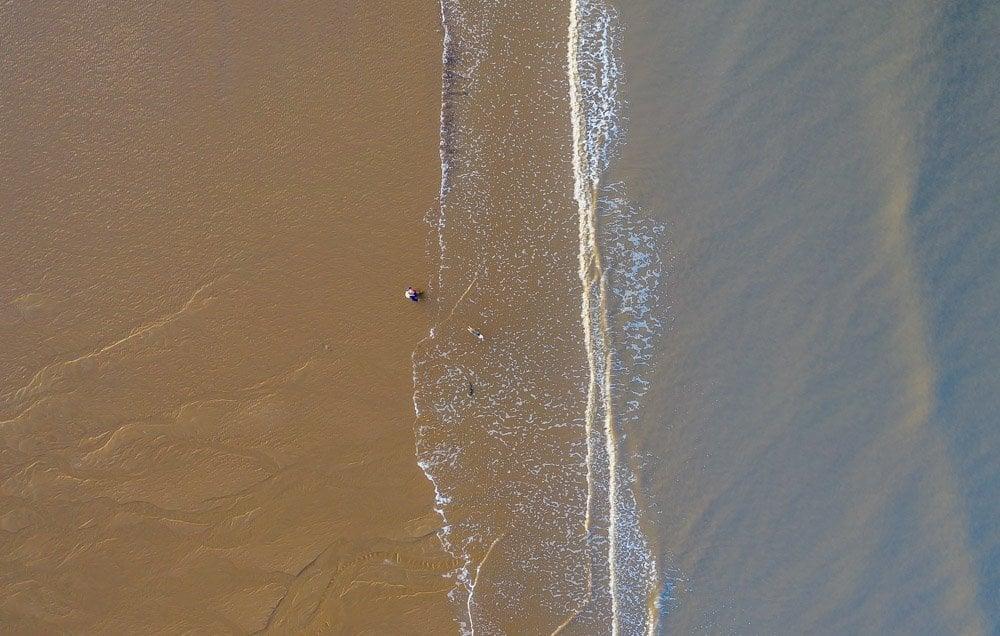 DJI_0636 Cleveleys & Rossall Beach, Sunrise & Sunset Dog Walks