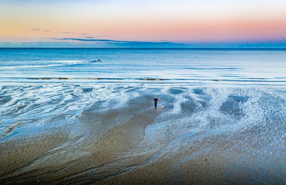 DJI_0658 Cleveleys & Rossall Beach, Sunrise & Sunset Dog Walks