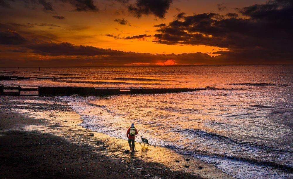 DJI_0684 Cleveleys & Rossall Beach, Sunrise & Sunset Dog Walks