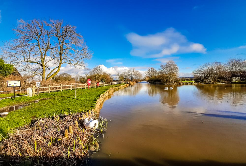 Hickling basin in sunshine