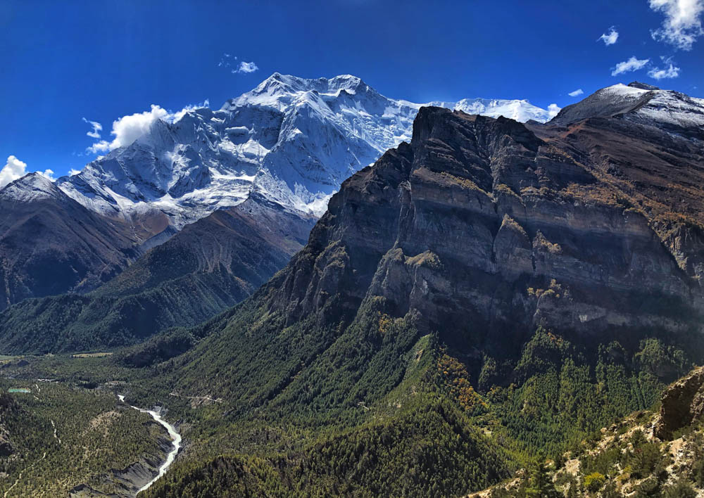 Annapurna mountain scene