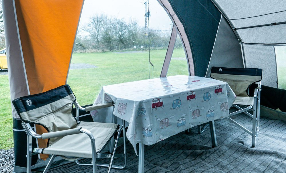 A Teardrop Caravan Stay at Doe Park, Teesdale