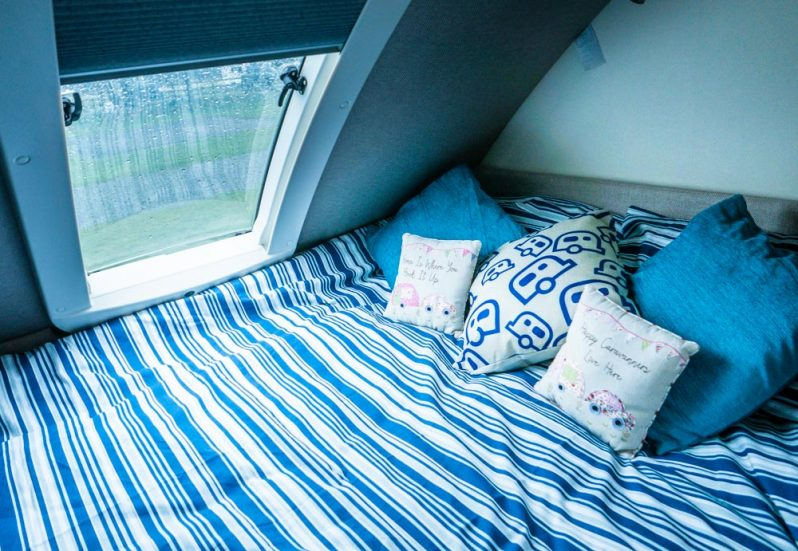 teardrop caravan bed