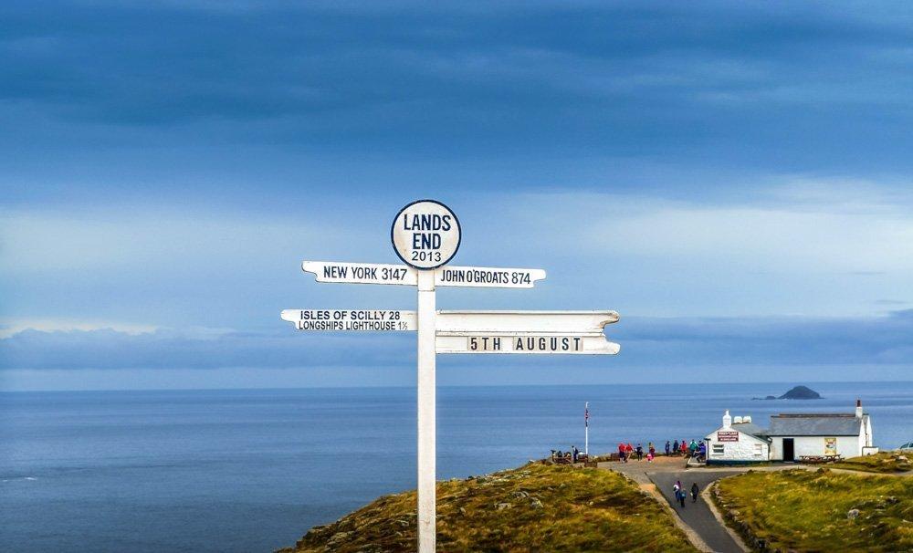 Land's End Mile Marker Cornwall