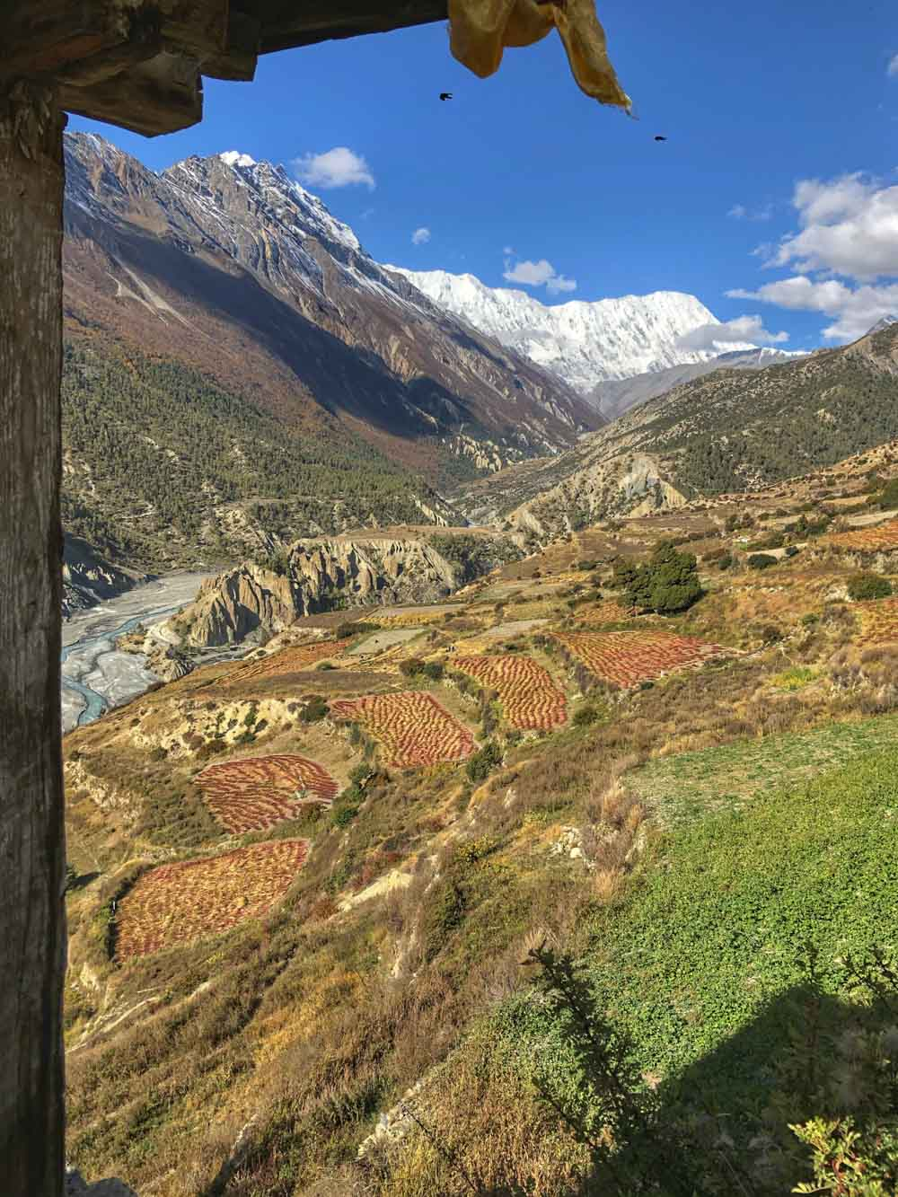 Valley-Leaving-Manang Annapurna Circuit, Nepal - Part II: Apple Pie to Beyond Acclimatisation