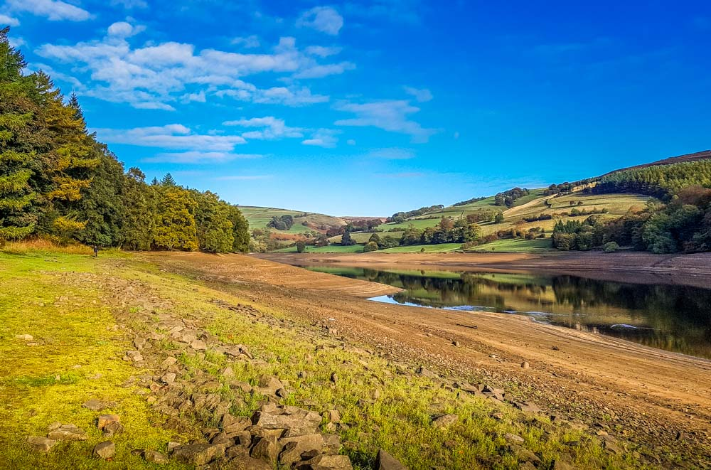 Autumn-at-Ladybower-low-water-2018 Memories Of The Dry Derwent Dam Reservoirs