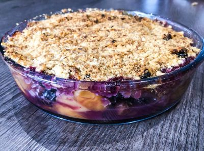 Apple, Pear and Blueberry Crumble Recipe