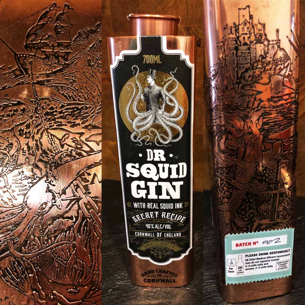 Dr-Squid-Gin Dr Squid Gin from Pocketful of Stones Distillers, Cornwall