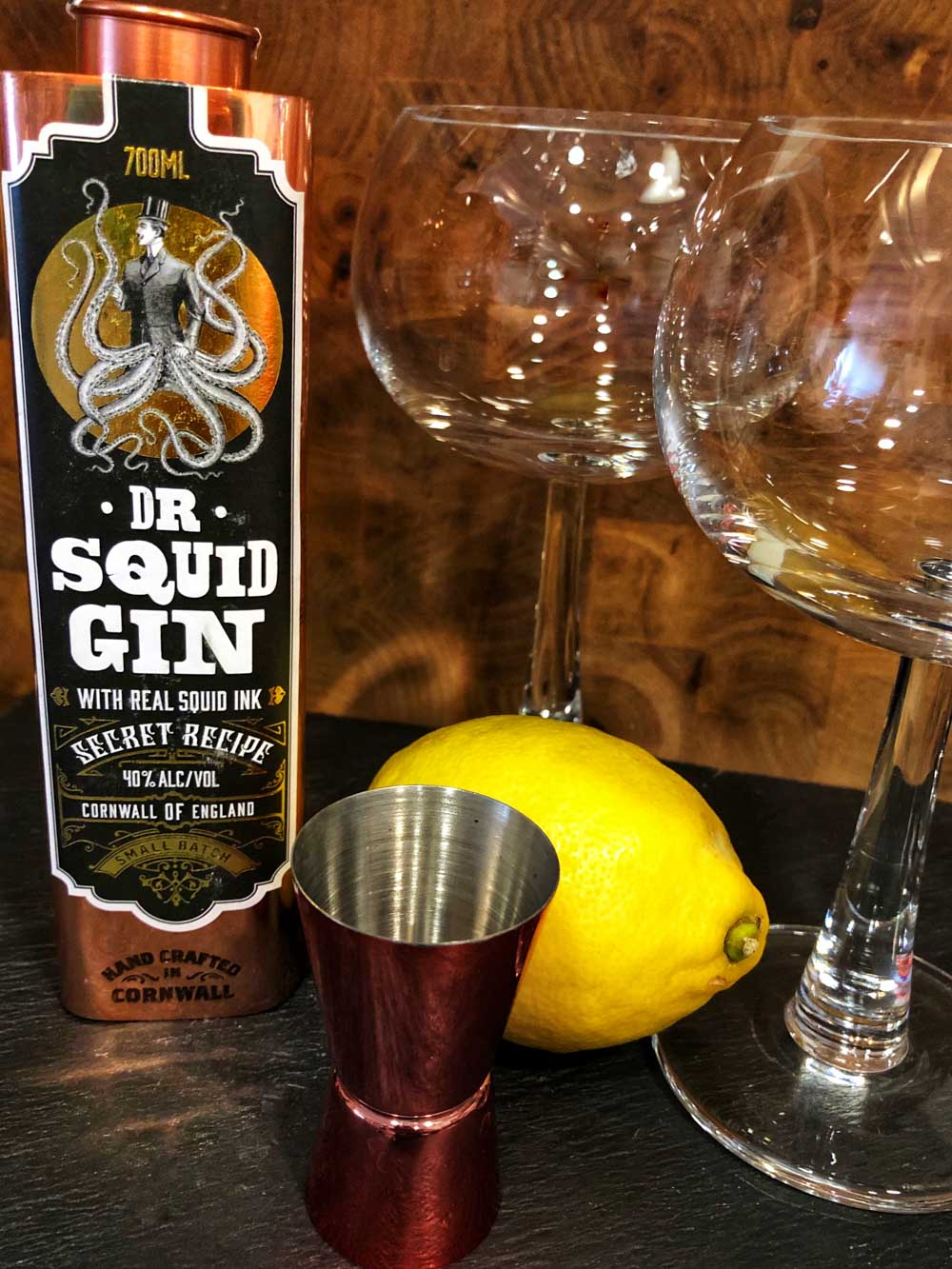 Drinkies Dr Squid Gin from Pocketful of Stones Distillers, Cornwall