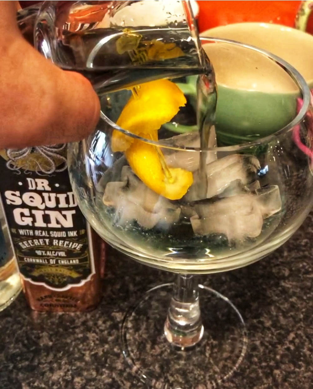 the gin is made with real squid ink