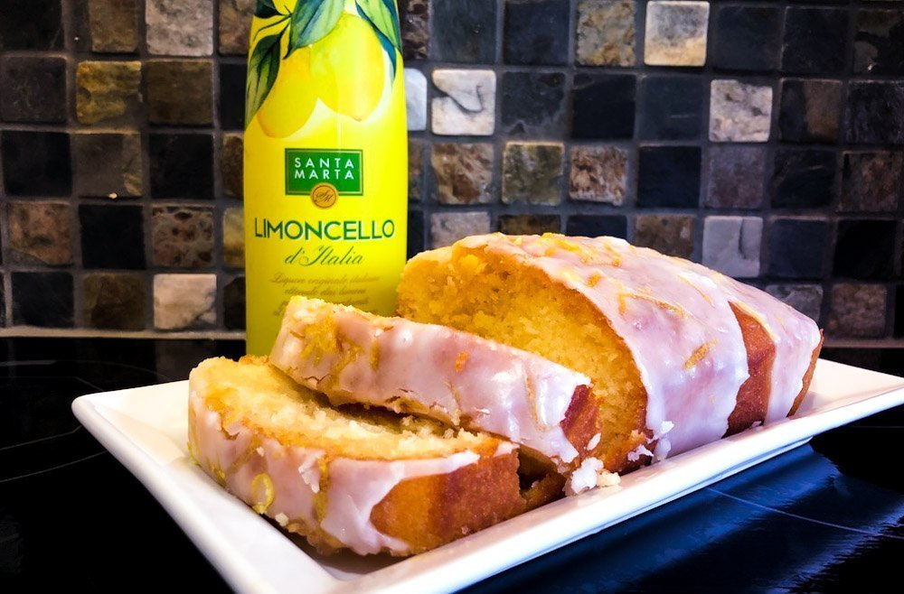 Boozy Lemon Drizzle Loaf cake