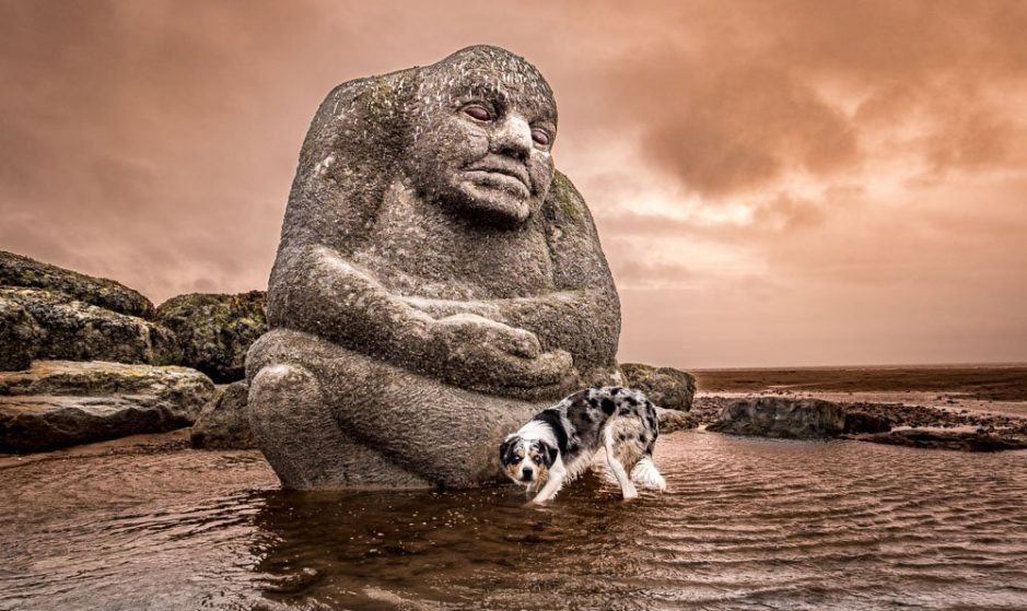 The Mythic Coast Art of Cleveleys Beach
