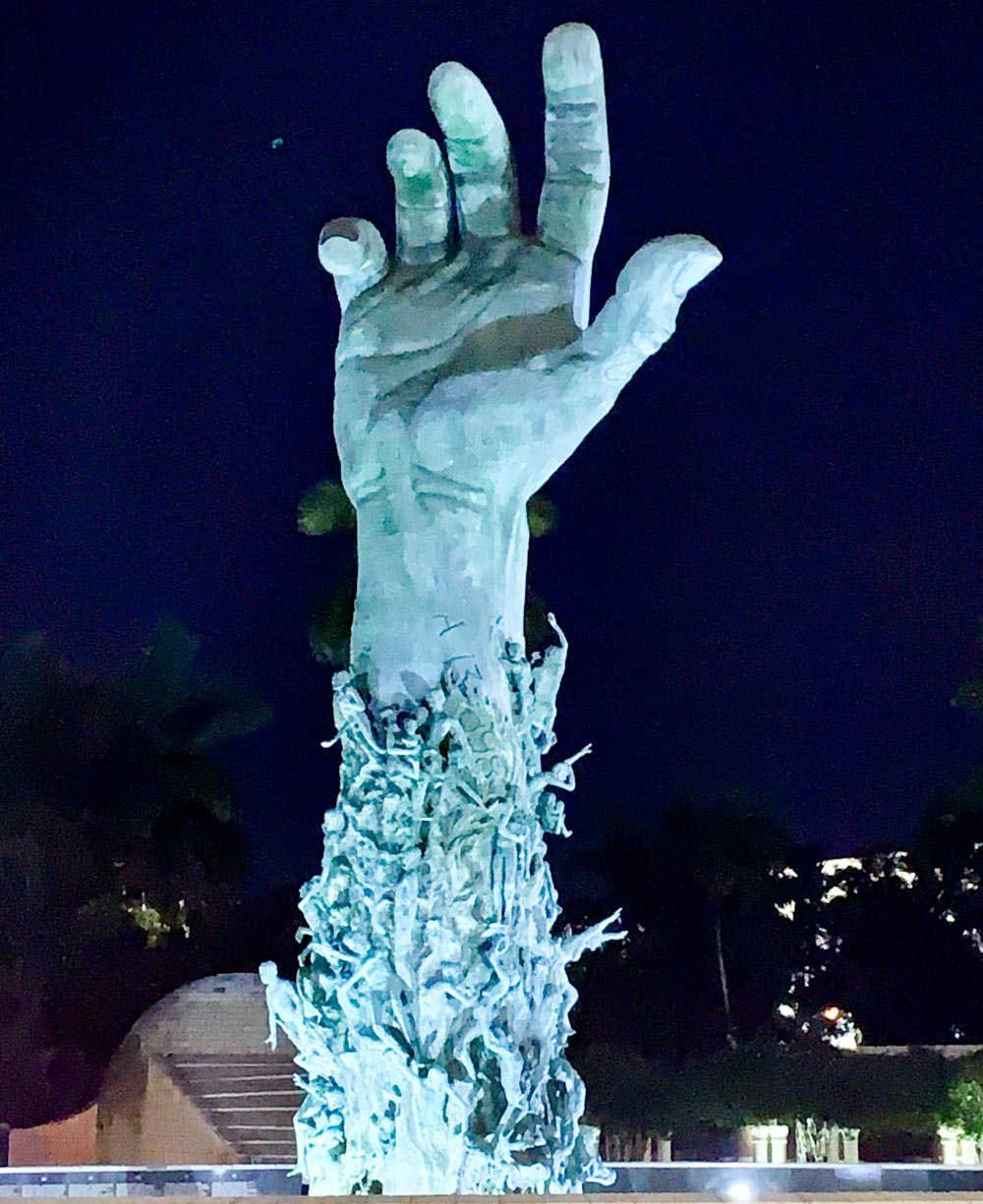 The hand at Miami Beach's Holocaust Memorial