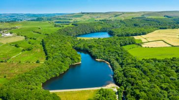 roddlesworth reservoir from above