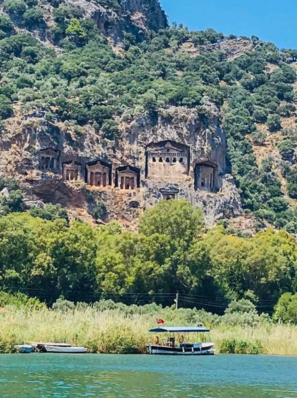tombs-in-cliffs Sail Away On The Aegean Sea With Your Own Private Gulet