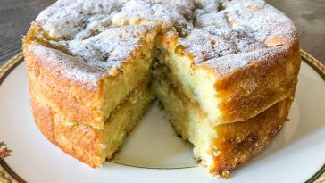 Delicious Rhubarb and Custard Cake recipe
