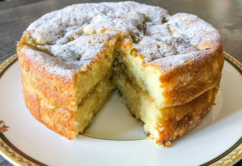 Delicious Rhubarb and Custard Cake recipe