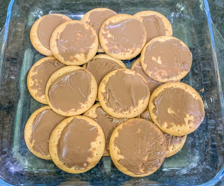 smores biscuits layered