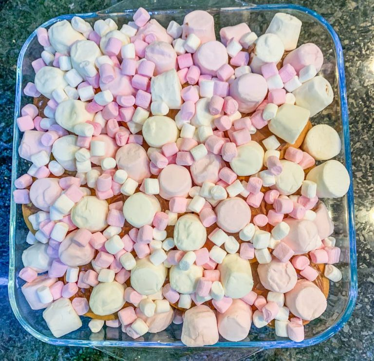 covered in marshmallows