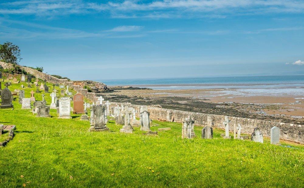 graveyard by the coast at Heysham