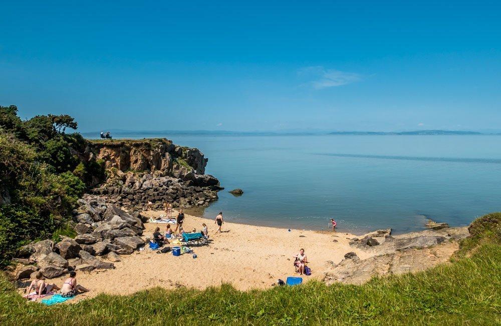 sandy bay at Heysham