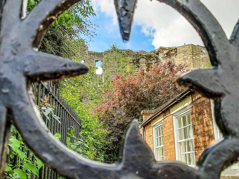through the gates at newark castle