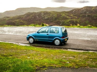 Memories Of A Visit To Scotland in a Tiny Fiat Car