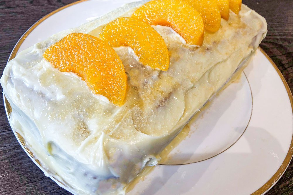 IMG_0624 Peaches and Cream Loaf Cake - A Boozy Recipe