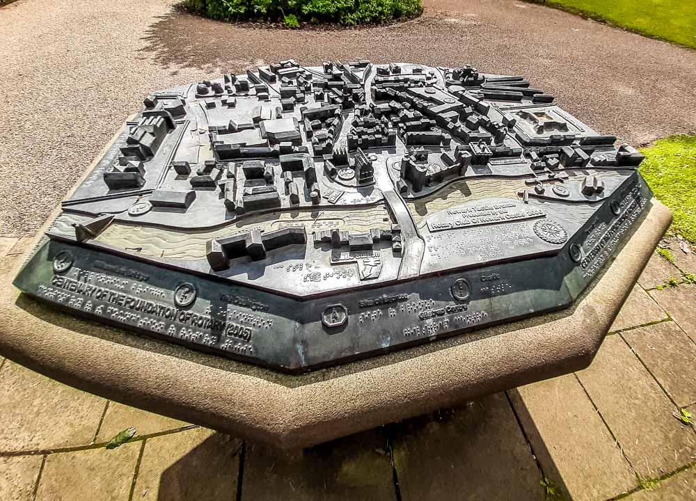 model of the original newark castle