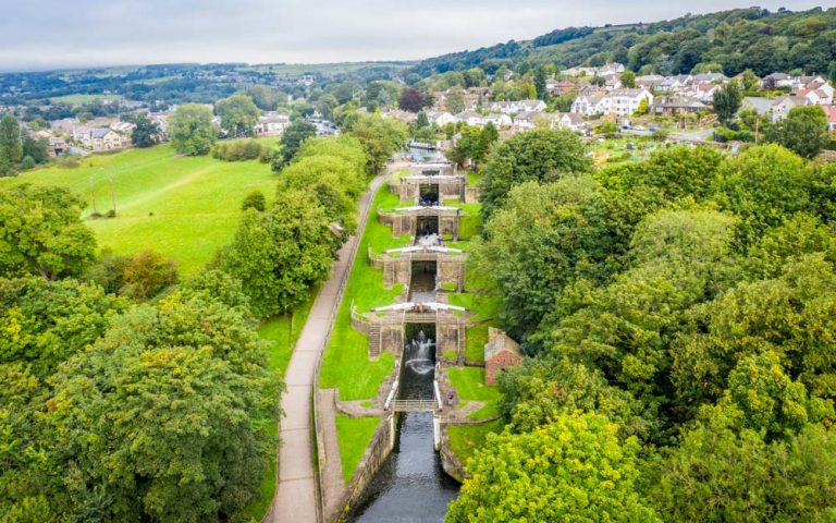 Bingley Five Rise Locks – Steepest Staircase Locks In The UK