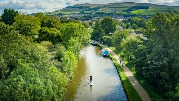 Paddleboarding On The Leeds & Liverpool Canal