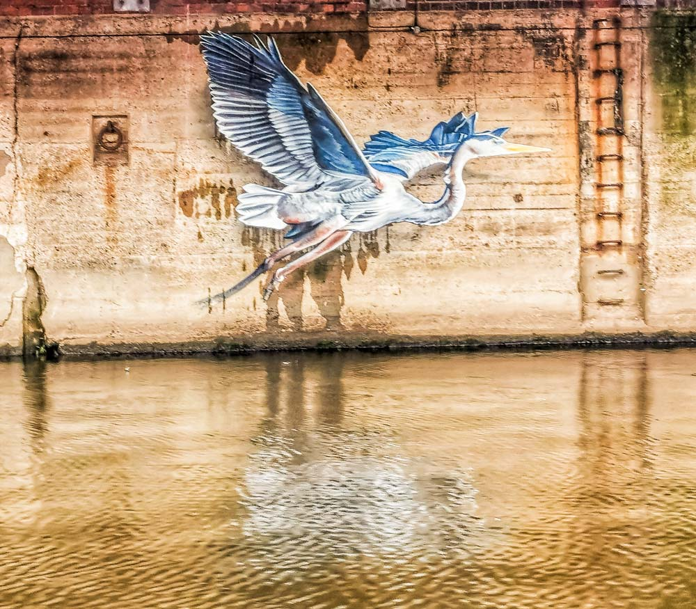 graffiti on leeds liverpool canal