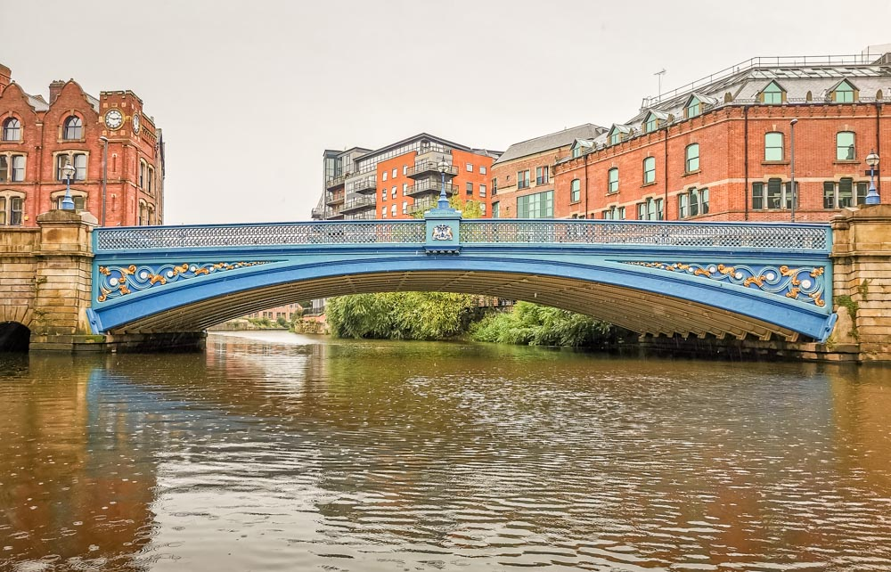 Leeds bridge from the canal