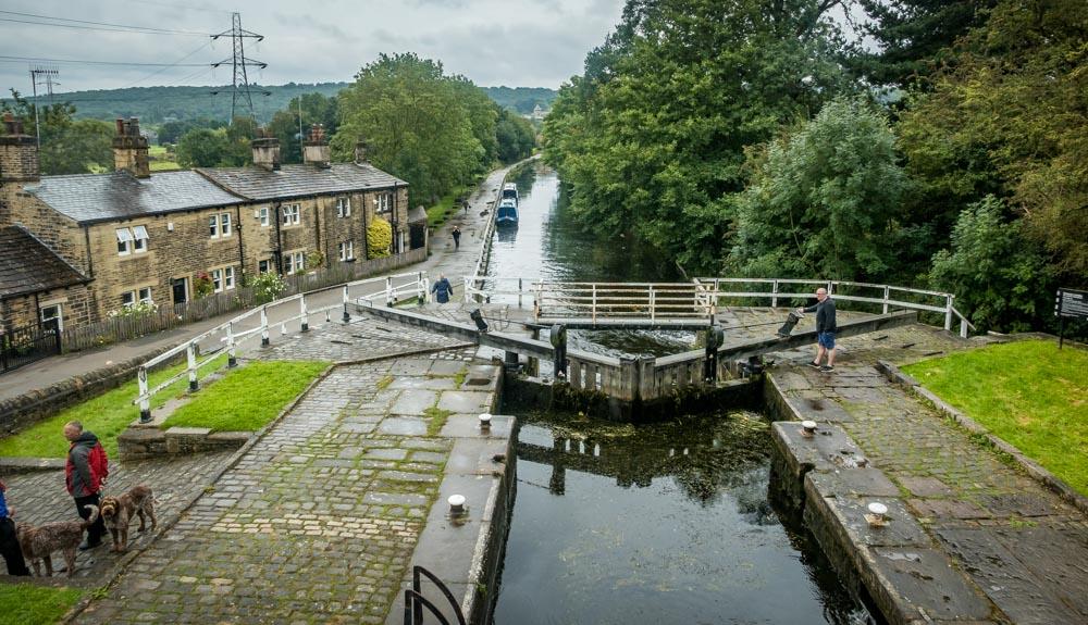 Dobson lock on leeds & liverpool canal