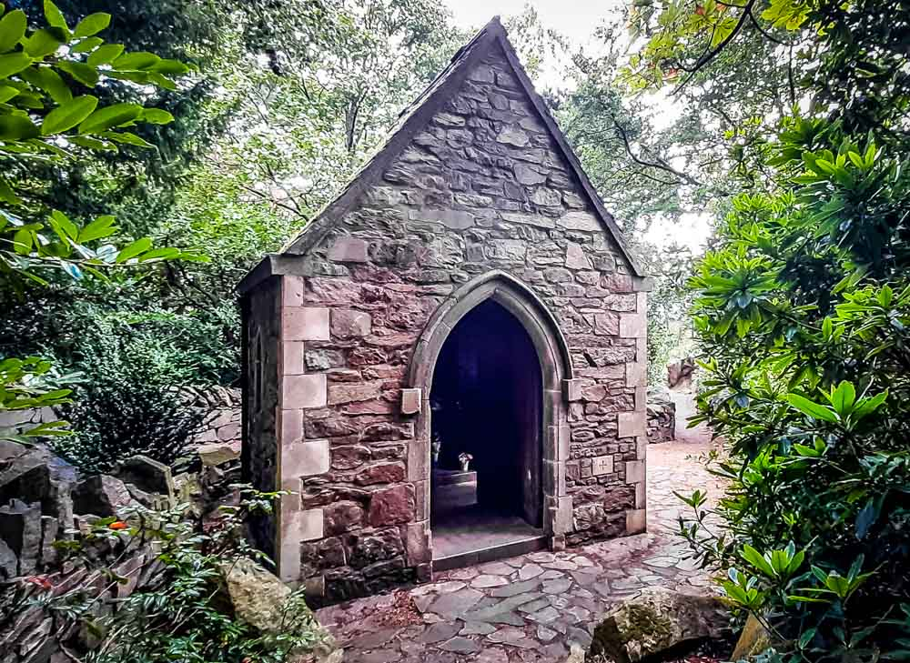 Chapel-entrance Mount Saint Bernard Abbey Leicestershire