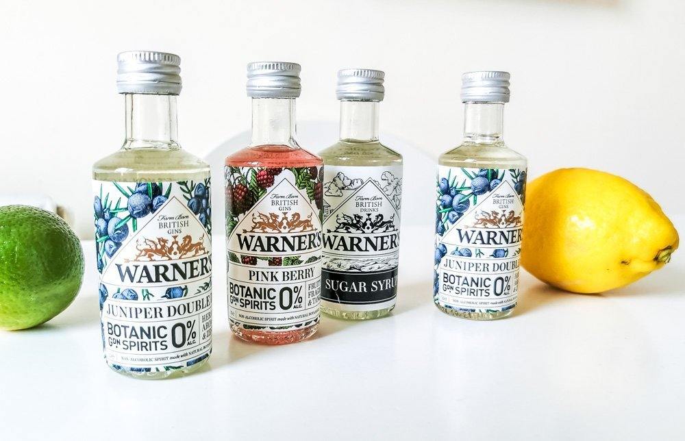warners gin 0% varieties