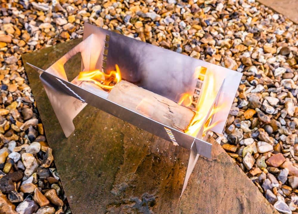 L1021168 Fire Trough Stove By Richard Outdoors - Flat Pack Flexibility