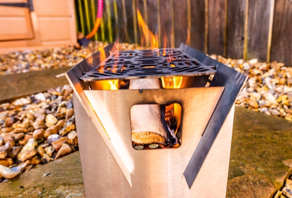 L1021174 Fire Trough Stove By Richard Outdoors - Flat Pack Flexibility