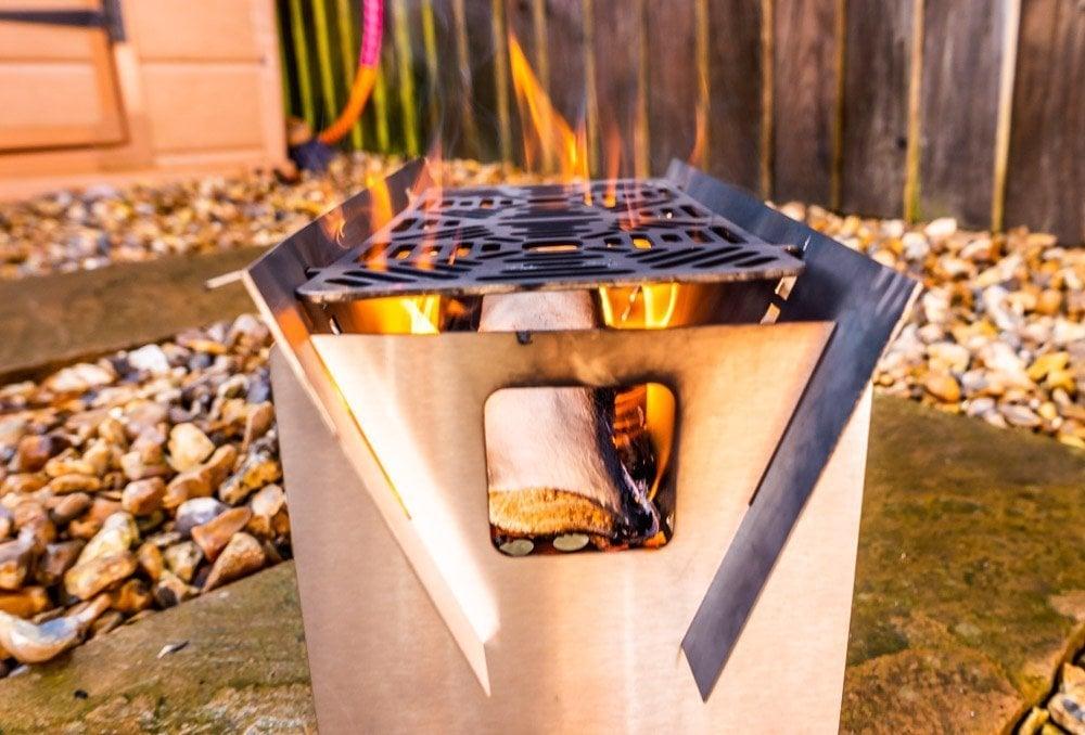 wood burning fire trough