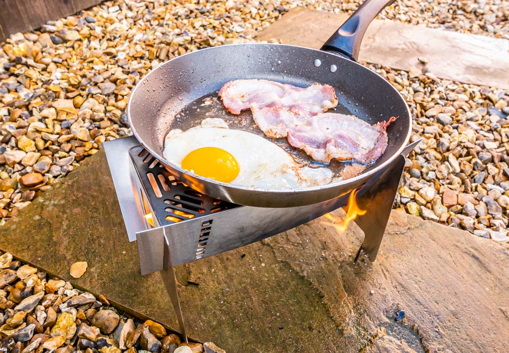 L1021179 Fire Trough Stove By Richard Outdoors - Flat Pack Flexibility