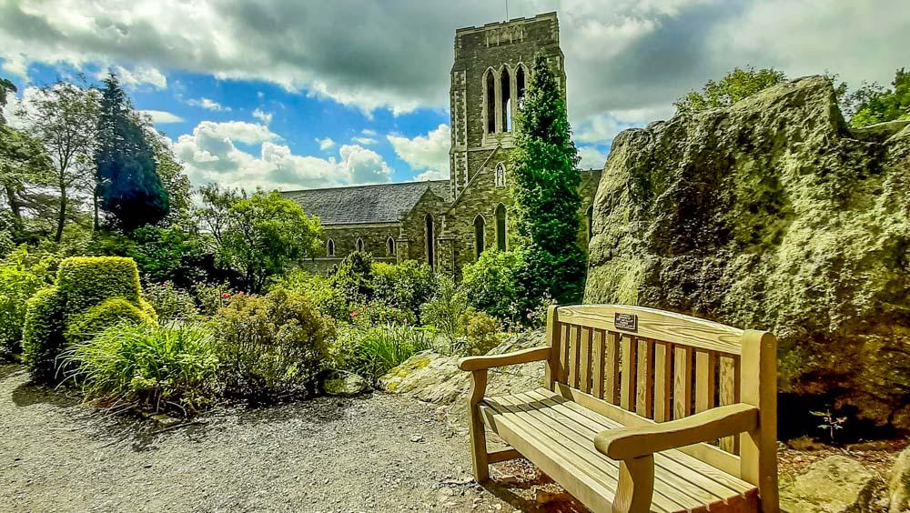 Mount Saint Bernard Abbey from the garden