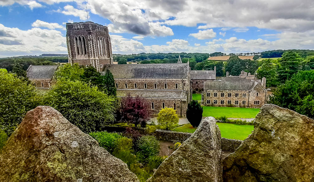 overhead view of Mount Saint Bernard Abbey
