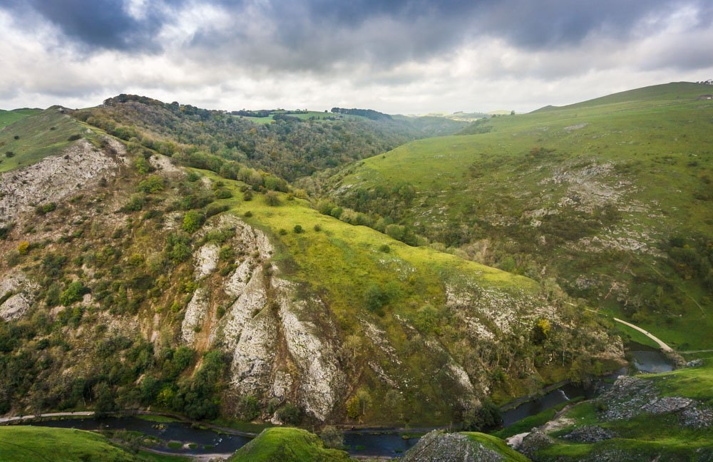 dovedale from above