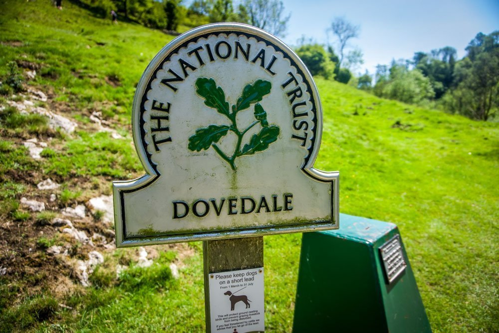 dovedale-sign Exploring Dovedale - Caves, Limestone Spires, Riverside Walking