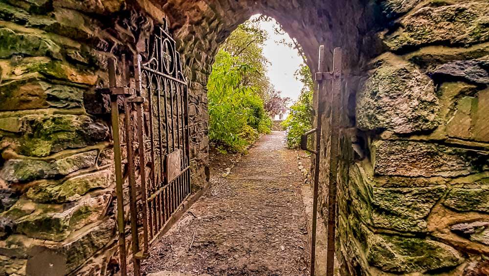 walled gates Mount Saint Bernard Abbey